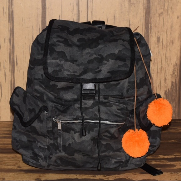 b4d86fe2e48c Quilted koala black camo backpack